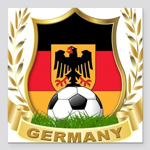 "germany a Square Car Magnet 3"" x 3"""