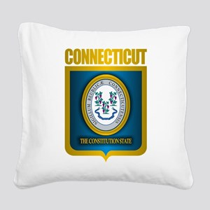 Connecticut (Gold Label) Square Canvas Pillow