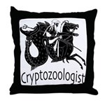 Cryptozoologist Ancient Throw Pillow