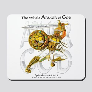 Whole Armor of God--Silver Mousepad