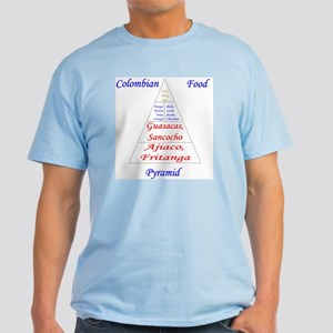 Colombian Food Pyramid Light T-Shirt