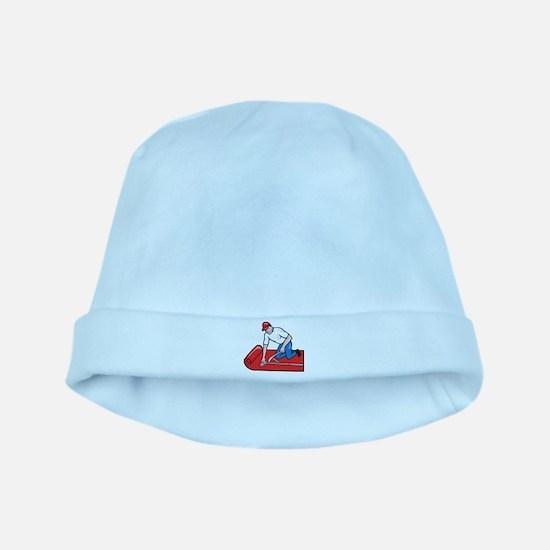 Carpet Layer Fitter Worker Cartoon baby hat