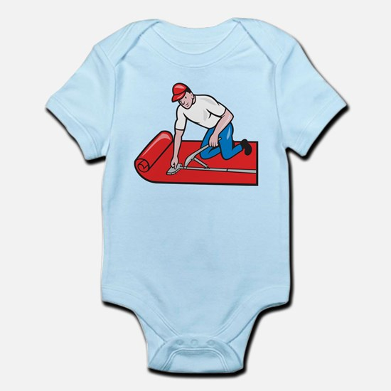 Carpet Layer Fitter Worker Cartoon Infant Bodysuit