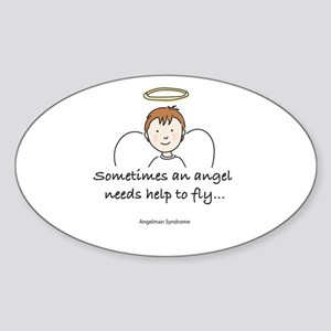 Angelman Syndrome Awareness Oval Sticker