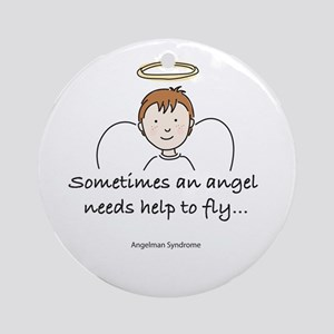 Angelman Syndrome Awareness Ornament (Round)