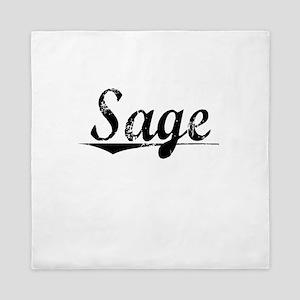 Sage, Vintage Queen Duvet