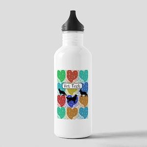 vet tech 2 hearts Stainless Water Bottle 1.0L