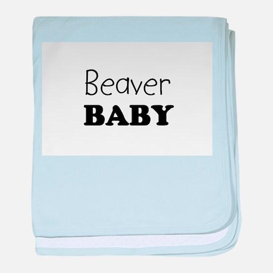 Beaver.png baby blanket