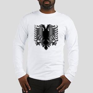 Black Albania Eagle Long Sleeve T-Shirt