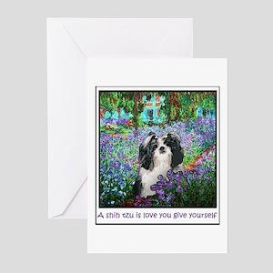 Shih Tzu Fine Art Eve Greeting Cards (Pk of 10