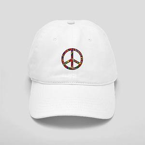 Rainbow Swirl Peace Sign Cap