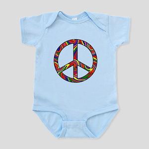 Rainbow Swirl Peace Sign Infant Bodysuit