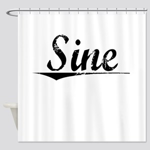 Sine, Vintage Shower Curtain