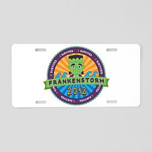 Survived Frankenstorm 2012 Aluminum License Plate