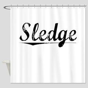 Sledge, Vintage Shower Curtain