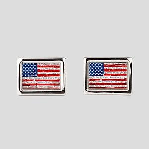 Patriotic Pledge of Allegian Rectangular Cufflinks