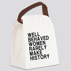 Women, Make History Canvas Lunch Bag