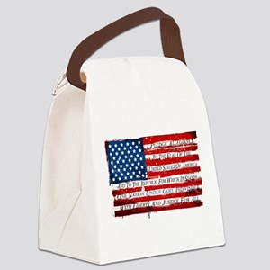 Patriotic Pledge of Allegiance US Canvas Lunch Bag