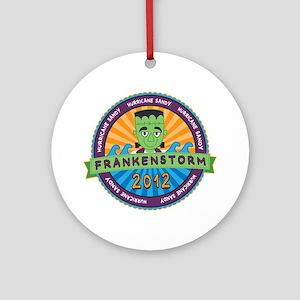 Hurricane Sandy Frankenstorm 2012 Ornament (Round)