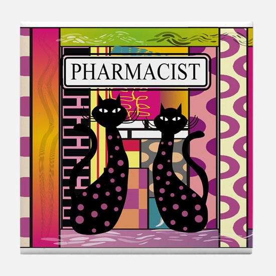 pharmacist black cat TOTE CP.PNG Tile Coaster