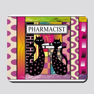 pharmacist black cat TOTE CP Mousepad