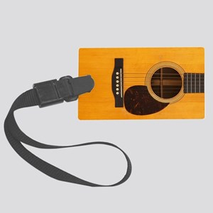 Acoustic Guitar Large Luggage Tag