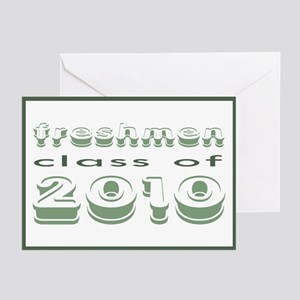 """""""Class of 2010 Freshmen"""" Greeting Cards (Package o"""