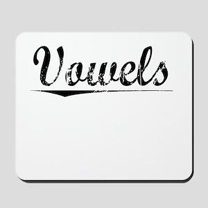 Vowels, Vintage Mousepad