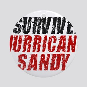 I Survived Hurricane Sandy Distressed Ornament (Ro