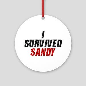 I Survived Hurricane Sandy Ornament (Round)