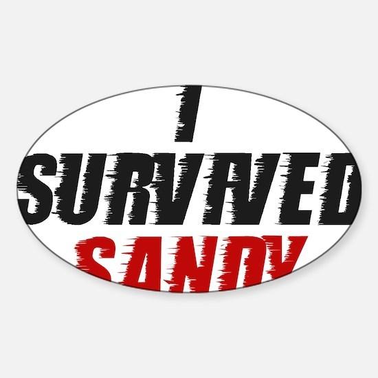 I Survived Hurricane Sandy Sticker (Oval)