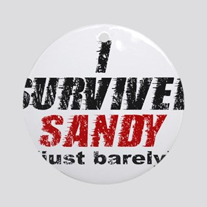 I Survived Sandy (just barely) Ornament (Round)