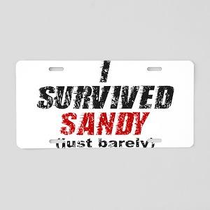I Survived Sandy (just barely) Aluminum License Pl