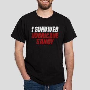 I Survived Hurricane Sandy Distressed Dark T-Shirt