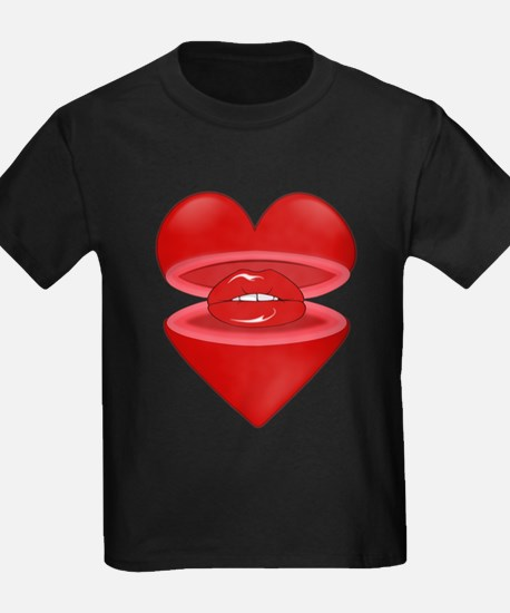 Heart with Lips Inside T