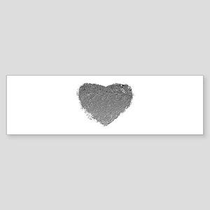 Silver Heart Sticker (Bumper)