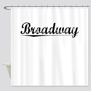 Broadway, Vintage Shower Curtain