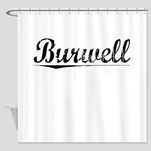 Burwell, Vintage Shower Curtain