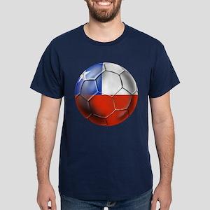 Chile Soccer Ball Dark T-Shirt