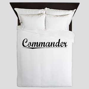Commander, Vintage Queen Duvet