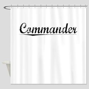 Commander, Vintage Shower Curtain