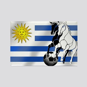 Uruguay Soccer Flag Rectangle Magnet