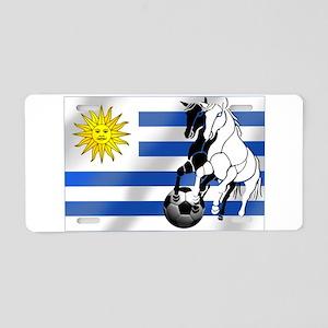 Uruguay Soccer Flag Aluminum License Plate
