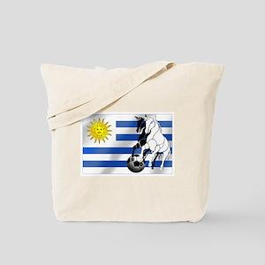 Uruguay Soccer Flag Tote Bag