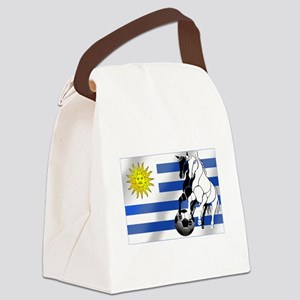 Uruguay Soccer Flag Canvas Lunch Bag