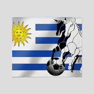 Uruguay Soccer Flag Throw Blanket