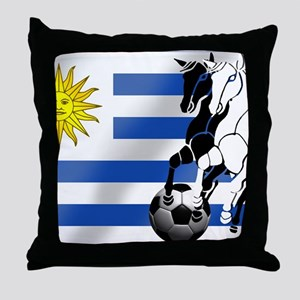 Uruguay Soccer Flag Throw Pillow