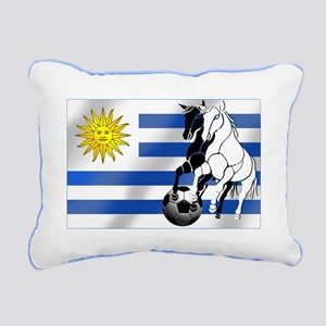 Uruguay Soccer Flag Rectangular Canvas Pillow