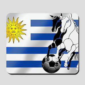 Uruguay Soccer Flag Mousepad