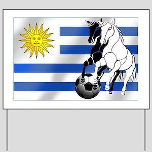 Uruguay Soccer Flag Yard Sign